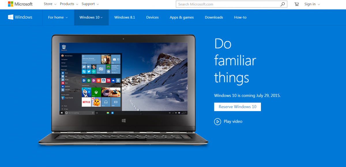 Microsoft Windows 10 Makes Its Debut