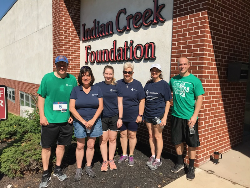 Team Canon Capital Participates in the Indian Creek Foundation 2018 Roll, Stroll & Run