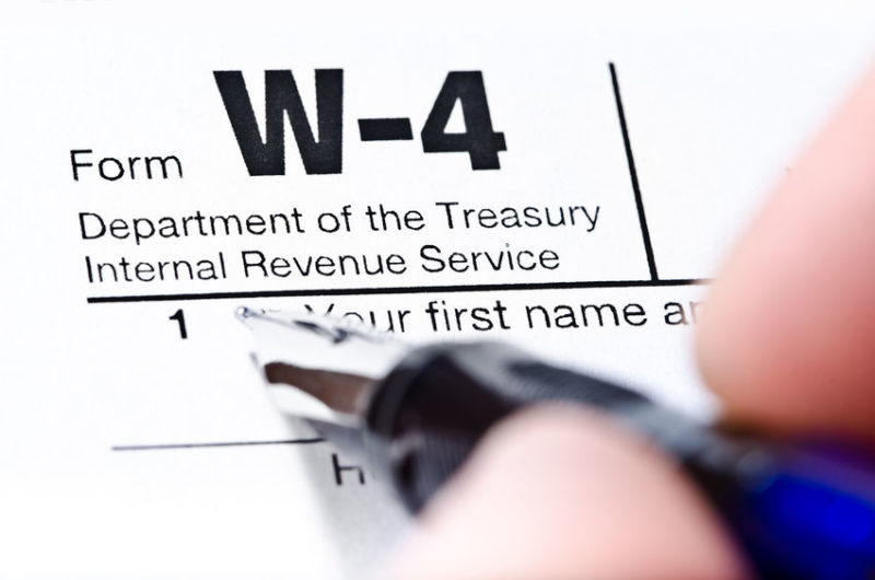 New Form W-4 Issued by IRS for Use in 2020