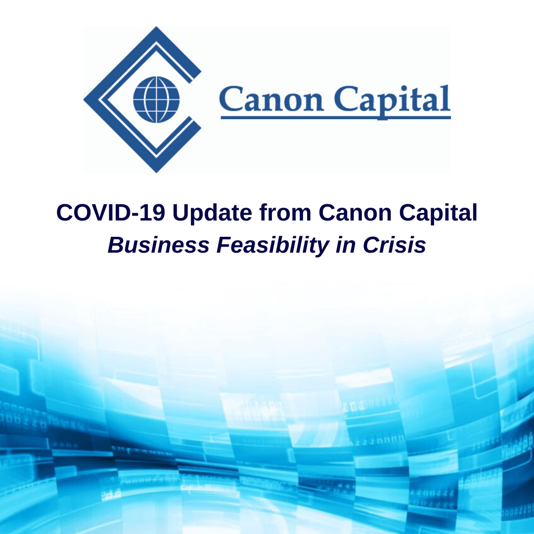 Canon Capital COVID-19 Update-Business Feasibility in Crisis 3-31-20