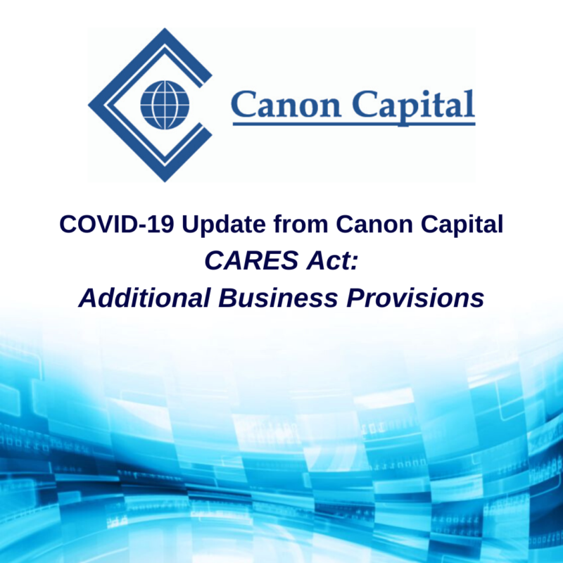 CARES Act Update: Additional Business Provisions