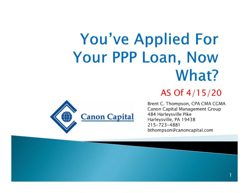 """""""You've Applied for the PPP Loan, Now What?"""" Seminar Recording"""