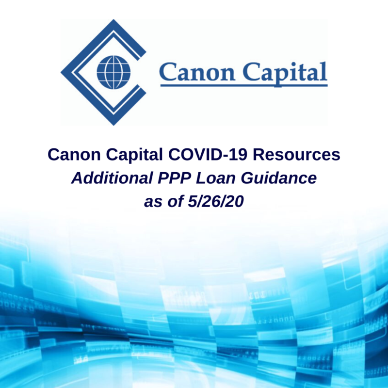 Additional PPP Loan Forgiveness Guidance Released on May 22, 2020
