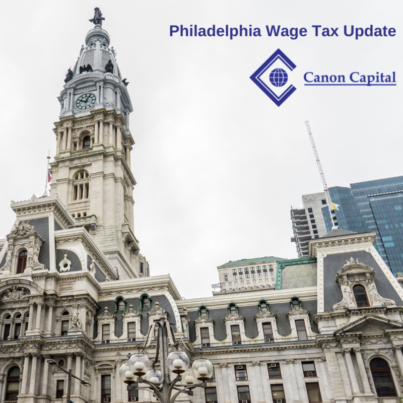 Non-Resident Philadelphia Wage Tax Increases on July 1, 2020