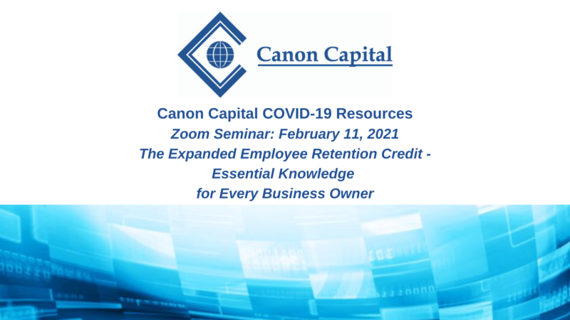 Seminar Recording: The Expanded Employee Retention Credit